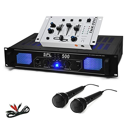 DJ SET DJ-96 PA Hifi Verstärker Mixer 2x Mikro 1600W