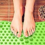 4 pics Massaging Floor Mats + Dual Foot Massage Roller - Foot Massage Set – Module Mats for Acupuncture & Foot Reflexology - Pain Relief and Trigger Point Release – Toe Mats for Kids