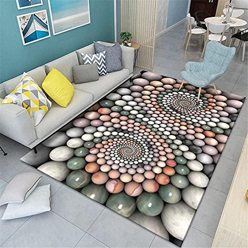 Alfombras Salon Baratas Multicolor Decoracion hogar Salon Sofá de Cocina de Dormitorio de Sala de Estar esférico Tridimensional cómodo y Ligero Alfombra Simple Rectangular de Lujo alfombras Juveniles