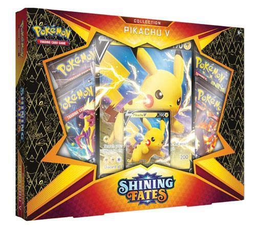 Pokemon Shining Fates Pikachu V Box Lot de 4 boosters
