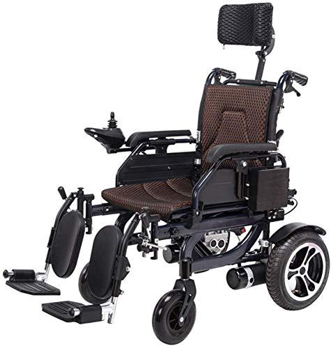UYZ Medizinischer Reha-Stuhl, Rollstuhl, Elektrorollstuhl, Intelligentes elektrisches Zusammenklappen Leichtes Tragen Langlebige Elektrorollstühle Behinderte Ältere Outdoor Bequemer Rollstuhl EL