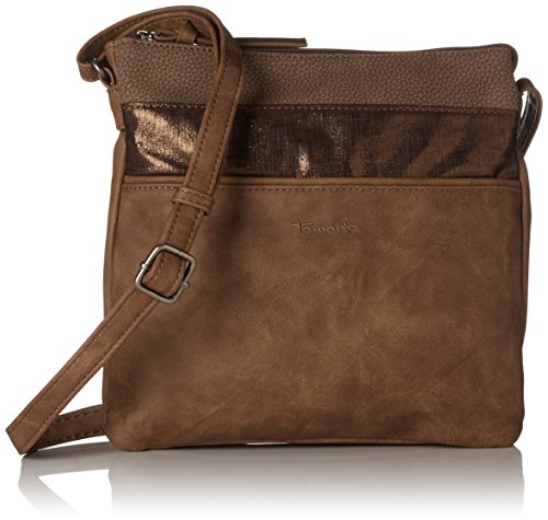 Tamaris Damen Khema Crossbody Bag Umhängetasche, (Brown Comb.), 2x24x25 cm