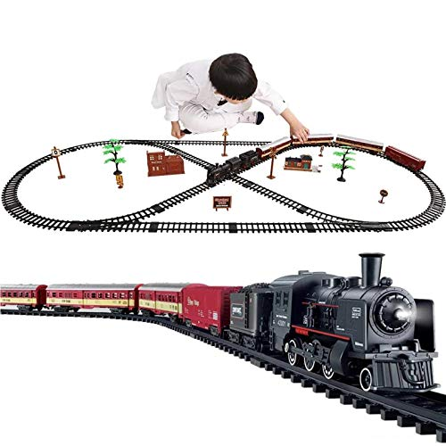 N / C Kit de Tren eléctrico para niños, con Sonidos de...