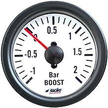 Tutoy 2,5 Pollici 60 Millimetri Passo Motore Led Turbo Boost Manometro Vuoto Premere Pressione Psi W//Holder