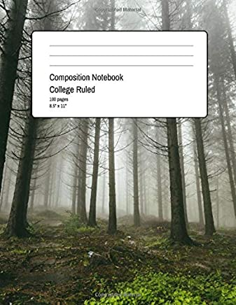 Composition Notebook College Ruled: 100 Pages + 8.5 x 11 + medium ruled paper with horizontal spacing + Beautiful Wood Design Cover