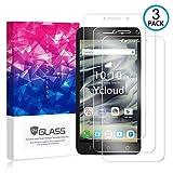 Ycloud [3 Pack] Protector de Pantalla para Alcatel Pixi 4 (6.0 Pulgada) 3G,[9H Dureza/0.3mm],[Alta Definicion] Cristal Vidrio Templado Protector para Alcatel Pixi 4 (6.0 Pulgada) 3G