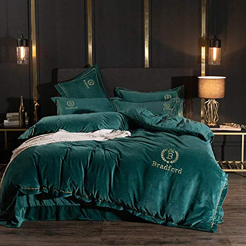 Bed Accessories for Bedroom Duvet Cover Set Duvet Covers King Size Beds Blue Flannel Duvet Covers King Size Winter Double Duvet Covers Set Quilt Cover Set with Fitted Sheet Pillowcases Soft Warm Fl