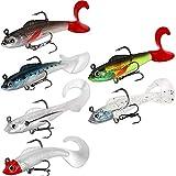 WYSUMMER Señuelos de pesca suaves, señuelos de pesca, señuelos de pesca 3D, anzuelo de pesca suave, cebos artificiales (6 piezas)