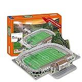 Mankvis Modelo 3D Puzzle, Brasil Estadio Principal Fluminense Laranjeiras Estadio Modelo Ventilador Recuerdos DIY Juego de Puzzle para niños