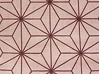 ダブルガーゼ 1m単位販売(WG-64) 麻の葉 ピンク 約108㎝幅 和調 和柄 布 生地 麻 桃色 Wガーゼ 日本製 綿 子供用 大人用 やんちゃなキルト屋