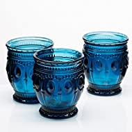 Richland Vintage Charm Candle Holder Navy Blue Set of 6