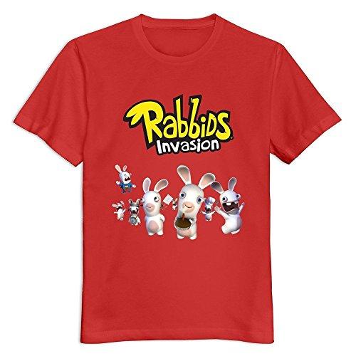 YWT Rabbids Invasion Logo Mens T-shirt Short Sleeve Fashion Red