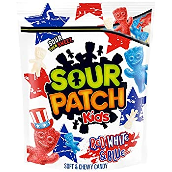SOUR PATCH KIDS Red White & Blue Soft & Chewy Candy Limited Edition 1.9 lb Bag