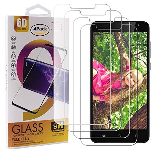 Guran 4 Paquete Cristal Templado Protector de Pantalla para Wieppo S6 / Wieppo S6 Lite Smartphone 9H Dureza Anti-Ara?azos Alta Definicion Transparente Película