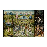 Five-Seller Jardín De Las Delicias Terrestres De Hieronymus Bosch Lienzo Cuadros Famosos Reproducción De Arte Impreso En Lienzo Arte De Pared Arte para Decoraciones para El Hogar (40_x_60_cm)
