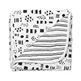 HonestBaby Organic Cotton Hand-Quilted Blanket, Pattern Play/Sketchy Stripe, One Size