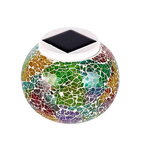 Whiie891203 Gartenlicht, Solarenergie LED Glaskugel Farbwechsellicht Gartengrün Dekor Dekor Lampe Im Freien Mehrfarbig