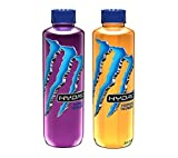 Monster Energy Hydro Sports Drink, 2 Flavor Variety Pack, 25.4 ounce (Pack of 12)
