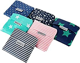MOREBEST 6 Pack Foldable Shopping Bag Portable Reusable Grocery Bags Handy Travel Bags for Household Outdoors