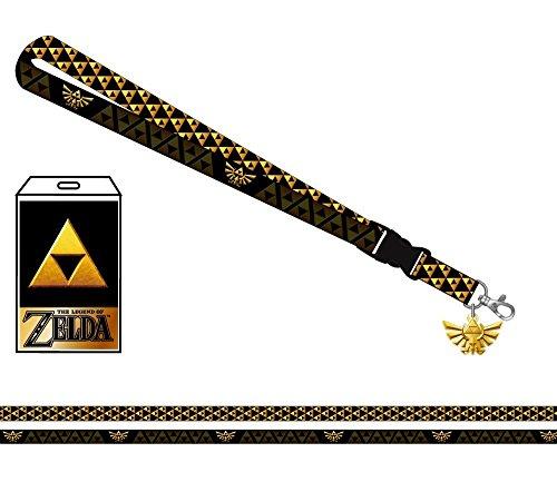 Nintendo Zelda Shield Lanyard With Metal Charm