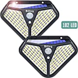 Luces LED Solares Para Exteriores, Biling 102 LED Luz Solar Exterior con Sensor de Movimiento...