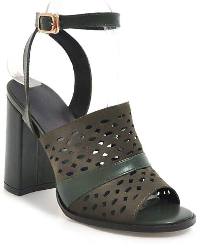Women Fashion Peep Toe Sandals Summer Heel Ankle Strap Pumps Size 40-48