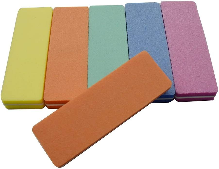 excellence Nail Files Bufers 10pcs Multicolor File Sponge Mini Free Shipping Cheap Bargain Gift Buffer