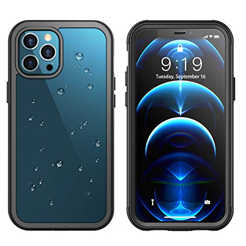 Temdan for iPhone 12 Pro Max Case 6.7', 361° Protect Built in Screen Protector with Premium...
