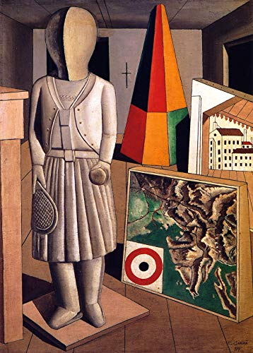 "Carlo Carra The Metaphysical Muse 1917 Pinacoteca di Brera 30"" x 21"" Fine Art Giclee Canvas Print (Unframed) Reproduction"