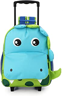 Zoo 3-Way Kids Rolling Luggage or Toddler Backpack with Wheels