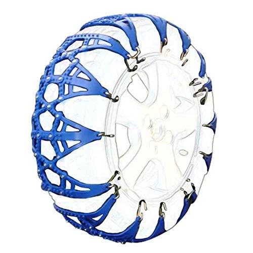 QCYP Cadenas para Nieve Neumáticos de Material Oxford Cadena Gruesa Antideslizante para Nieve para Barro de Verano Nieve en Invierno, Azul, 185-14、195/65-15、205/60-15