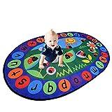 Ustide Kinder Teppich Reihe Farben Bildungs-Bereich Teppich, Synthetisch, marienkäfer, 5'x7' Oval