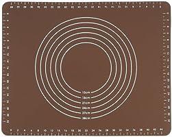 ヨシカワ シリコンマット ブラウン 50×40×0.1cm ホームベーカリー倶楽部 SJ1455