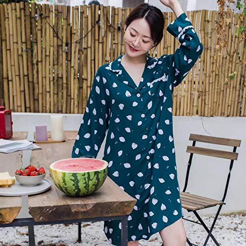 Nachthemden Schlafanzughosen Ladies Pyjamas Lace Retro Boyfriend Nachthemd eine lässige Lady Pyjamas jetzt