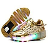 Nsasy Roller Shoes Girl Sneakers with Wheels Become Sport...