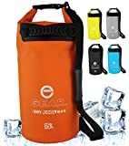 Enthusiast Gear Insulated Dry Bag Cooler | Waterproof Cooler for Kayaking, Hiking, Lunch, Fishing, and Beach – Leak Proof, Waterproof, Collapsible, with Padded Shoulder Strap (15L) - Orange