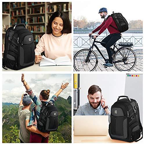 Laptop Rucksack Herren,17,3 Zoll TSA Freundlich Laptop Rucksack Schulrucksack Business Multifunktion Notebook Rucksack Wasserdicht Großer mit USB, Geschenk für Männer, Schüler Jungen Teenager, 60L