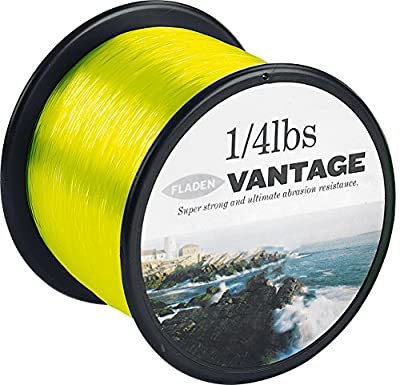 FLADEN VANTAGE PRO Bulk 1/4lb Spools of Extra Strong Monofilament Sea Fishing Line (YELLOW FLUORO) - comes in 15, 20, 30 & 50lbs from FLADEN