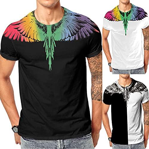 YWLINK Camiseta De Manga Corta con Estampado 3D Casual De Verano para Hombre Estilo Moda Impresa Camiseta Informal Top Blusa Deportes Al Aire Libre Fiesta Actividad Rendimiento (Blanco, L)