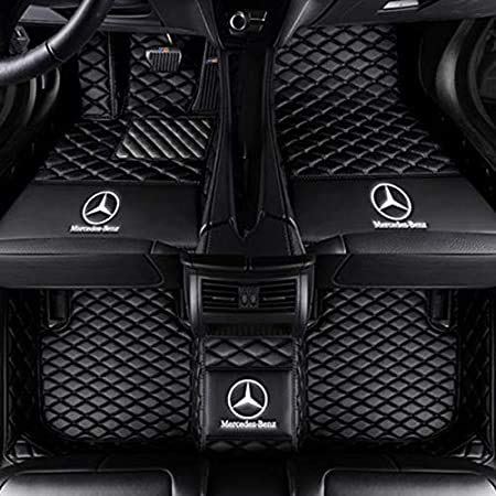 Fit for Mercedes Benz A C E S Class A220 C300 E350 E400 E450 S450 S550 S560 2000-2021 Sedan Coupe Convertible All Weather Car-Styling Custom Luxury Leather Waterproof Heavy Duty Floor Mats Liner Logo