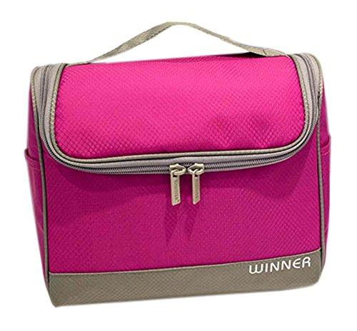 étanche pochette de Voyage Portable Wash Bag Cosmetic Bag, rose Red