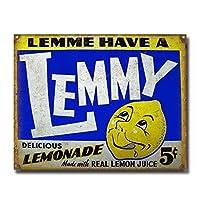 レミーレモネードブリキサインヴィンテージノベルティ面白い鉄の絵の具金属板