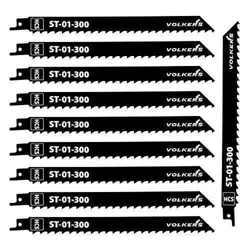 Säbelsägeblätter HCS (Länge 230 mm/Zähneabstand 8 mm) Sägeblatt für Holz, Plastik, Kunststoff (10)