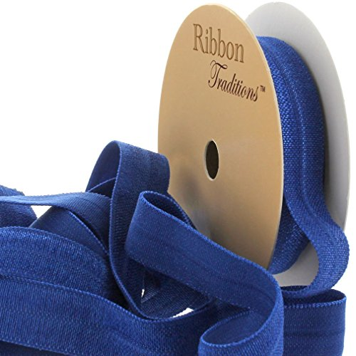 "3/8"" Fold Over Elastic Royal Blue 3 Yard"
