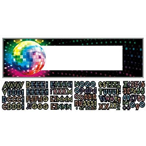 falksson - Striscione Personalizzabile per Feste, Modello Disco Night, 165 x 51 cm
