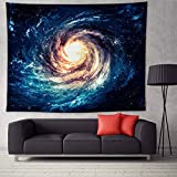 Galaxy Tapestry Wall Hanging 3D Printing Starry Night Sky Blanket Home Décor Ceiling Tapestries for Bedroom Living Room Dorm 51.2 × 59.1 inches