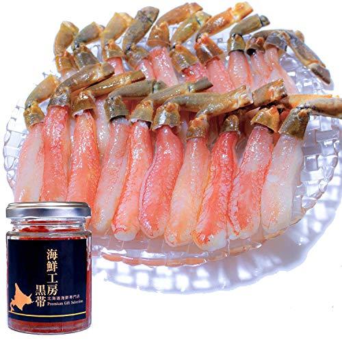 黒帯 北海道 海鮮 詰め合わせ ギフトセット いくら醤油漬け 生ズワイガニ 棒肉 ポーション (いくら100g ポーション500g)
