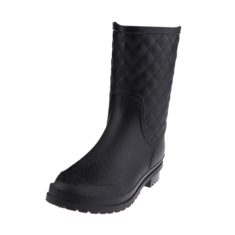 ウォルターカニンガム文句を言うグリーンバックFLAMEER レインシューズ 中筒靴 レディース 防水 滑り止め 通勤 通学 梅雨対策 全4サイズ