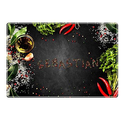 Tischset mit Namen ''Sebastian'' Motiv Pfeffer - Tischunterlage, Platzset, Platzdeckchen, Platzunterlage, Namenstischset