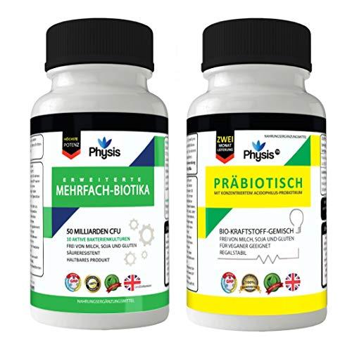 Physis Fortgeschrittene Probiotika und präbiotischer Biobrennstoff - Ultimative Darmflora-Kombipackung